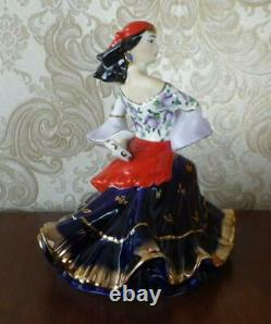 Dancer Gypsy woman Lady girl in folk dress Russian porcelain figurine 3318u