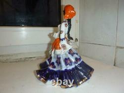 Dancer gypsy woman girl lady Folk dress Russian USSR porcelain figurine 2784u