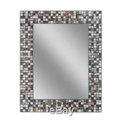 Deco Mirror 30 in. L x 24 in. W Earthtone Copper-Bronze Mosaic Tile Wall Mirror