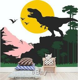 Dinosaur Wall Sticker T-Rex Dino Decal Bedroom Nursery Playroom Children Boys