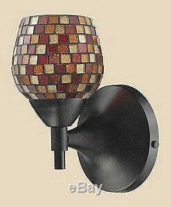 Elk Lighting 10150/1DR-MLT-LED Celina One Light Mosaic Glass Tile Wall Sconce