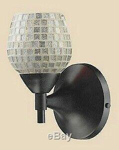 Elk Lighting 10150/1DR-SLV-LED Celina One Light Mosaic Glass Tile Wall Sconce