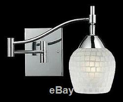 Elk Lighting-10151/1PC-WHT-Celina One Light Mosaic Glass Tile Swingarm Wall