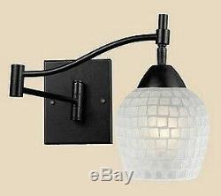 Elk Lighting 10151/1PC-WHT Celina One Light Mosaic Glass Tile Swingarm Wall