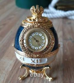 Faberge Egg The Timepiece Egg with Gold Pedestal