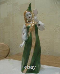 Fairy Lady fairy sorceress with a mirror USSR Russian porcelain figurine 3819u
