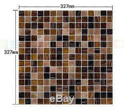Fashion glass mosaic tile kitchen backsplash bathroom wall waistline shower tile