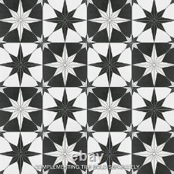 Floor Wall Porcelain Tile 9-3/4 in. X 9-3/4 in. Waterproof (11.11 sq. Ft. /case)