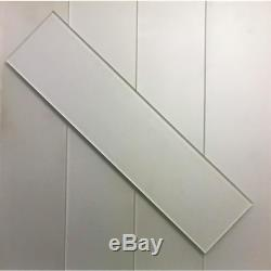 Forever Eternal White Field 4 In. X 16 In. Metallic Matte Glass Wall Tile 9-Pac