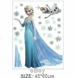 Frozen Queen Elsa Olaf children Nursery Wall Sticker Decal Decor Kids Room Decor