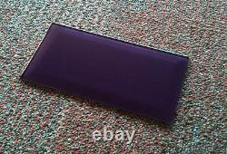 Fused Glass Bevel wall tile in metallic purple 200 x 100mm (8 x 4 inches)