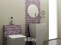 Fusion Purple Glass Mosaic Tiles Backsplash/Bathroom Tile Squares/Rectangles