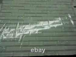 GBI Tile & Stone Gemstone 12x12 Glossy Glass Brick Subway Wall Tile 20 Ct, NEW