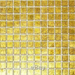 GOLD Translucent Mosaic tile GLASS WALL Bath&Kitchen Splashback 120-078210sheet
