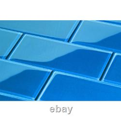 Giorbello Glass Subway Tile 4 in. X 12 in. X 8mm Cobalt Blue (5 sq. Ft. / case)