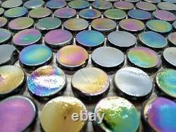 Glass Mosaic Tile Penny Round Black 12 x 12 Sheet 5 sheets