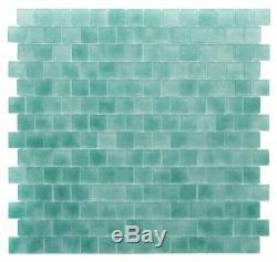 Glass Tile Backsplash Green Kitchen Bathroom Bath Shower Wall Mosaic Colored