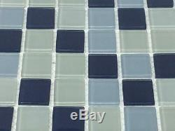 Glass Wall Kitchen Backsplash Bathroom Mosaic Tile, LAZUL-Lagoon
