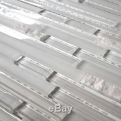Glass and Stone Wall Kitchen Backsplash Bathroom Mosaic Tile, GM 2103-Freeze
