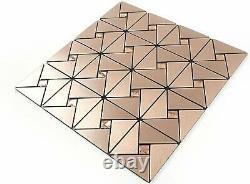 Gold Mosaic Self Adhesive Wall Tile Backsplash Kitchen Decor Wall Decals Sticker
