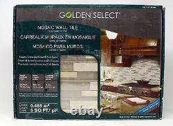 Golden Select Mosaic Wall Tile Glass & Stone 8mm Thick, 5 SQ FT