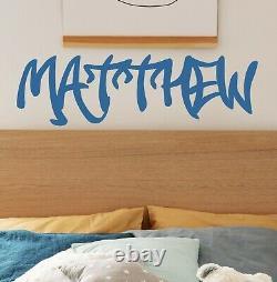 Graffiti Name Wall Sticker Decal Personalised Bespoke Custom Kids Vinyl