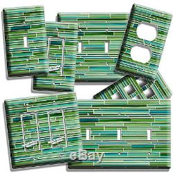 Green Mosaic Glass Tiles Design Light Switch Outlet Wall Plate New Kitchen Decor