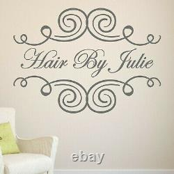 Hair Beauty Salon Wall Or Window Sticker Decal Personalised Bespoke Shop