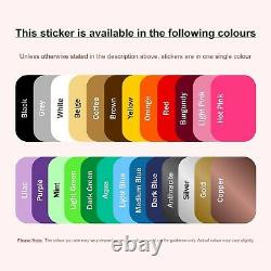 Harry Potter Name Wall Sticker Personalised Decal Vinyl Adhesive Bespoke
