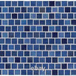 Hawaiian Blue 11.81 In. X 11.81 In. X 4Mm Glass Mesh-Mounted Mosaic Tile 19.4 S