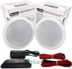 Herdio 5.25 Inches 300 Watts Round Bluetooth Ceiling Speakers 2 Way Flush Mount