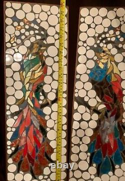 Hohenberg Originals MCM ART Mosaic Tile Wall Decor DAZZLING EXOTIC BIRDS Set