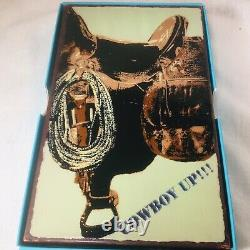 Houston Llew Spiritile Saddle Up Glass On Copper Wall Tile # 107