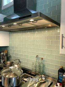Ice Age Light Blue Green 3x6 Glass Subway Tiles for Kitchen/Bathroom 177 PCS