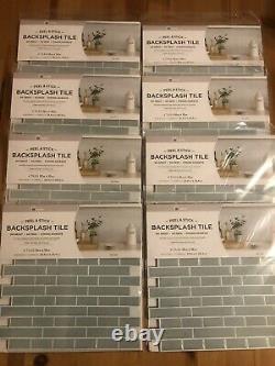 InHome 8 Pack Of 4 Sea Glass Peel BlackSplash Tile Peel & Stick NH2361 NEW