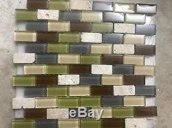 Jeffrey Court Fairgrounds Mosaic Wall Tile Bathroom Kitchen New