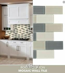 Jeffrey Court Rocky Canyon 12 x 12 in. 8 mm Glass Mosaic Wall Tile x 10 SHEETS