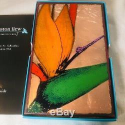 L-Houston Llew Spiritile Stephen's Paradise Glass On Copper Wall Tile # 130