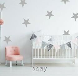 Large Giant Star Wall Stickers Nursery Decal Adhesive Vinyl Kids Big Stars