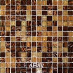 Light Brown Iridescent Mosaic Tile Backsplash Kitchen Wall Bathroom Shower