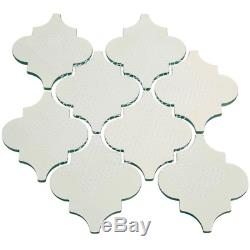 Light Olive Arabesque 4 In. X 5 In. X 8Mm Glass Backsplash And Wall Tile 7 Sq