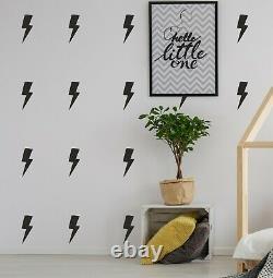 Lightning Bolt Wall Sticker Decals Vinyl Stencil Kids Adhesive Nursery Superhero