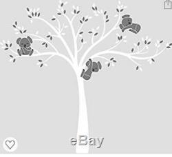 LittleLion Studio Modern Koala Cuteness Wall Decal, White/Medium Gray/Charcoal