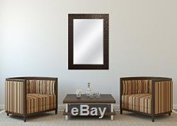 MCS 24x36 Inch Embossed Tile Wall Mirror, 32x44 Inch Overall Size, Bronze