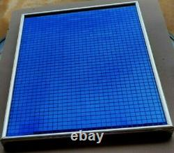 MID Century Modern Art Blue Tiles Ron Fritts Sculpture Very Rare And Unusual