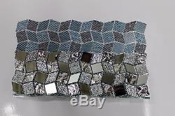 MIRAGE Silver Mirror Mosaic Glass Tile BackSplash Wall Tiles Bath Bar Kitchen