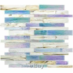 MOSAIC Matchstix Kismet Glass Floor and Wall Tile Stained (10 PCS)