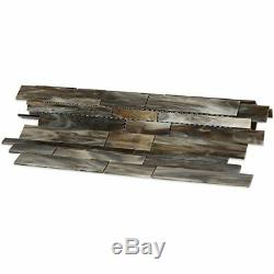 MOSAIC Matchstix Mockingbird Glass Floor and Wall Tile Stained glass (10 Pcs)