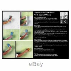 MOSAIC Matchstix Torrent Glass Floor and Wall Tile Stained glass (10 PCS)