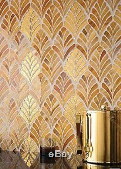 MOSAIC Stained Glass Tile Glass Floor and Wall Tile (10 PCS)